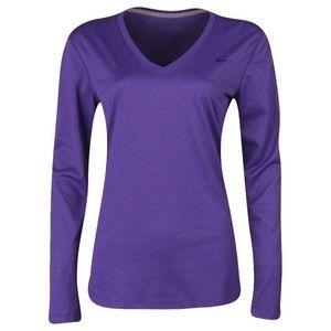 Women's Nike Dri-Fit Legend Purple V Neck Top